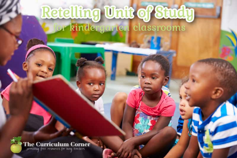 Use this free retelling unit of study to help your kindergarten and first grade students learn how to retell a story.