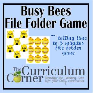 Telling Time (to Five Minutes) File Folder Game - The