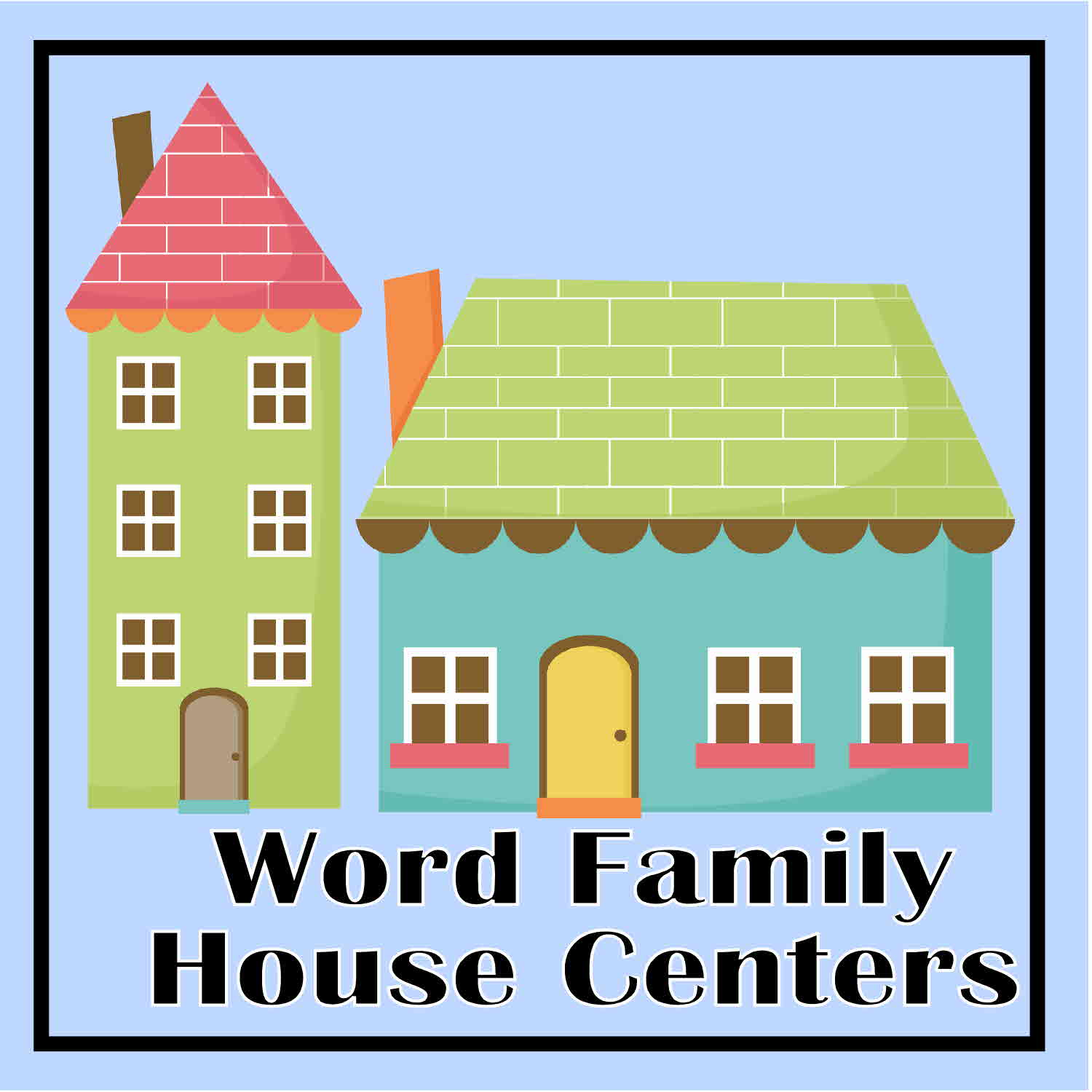Free Printable Word Family House Literacy Center Activity
