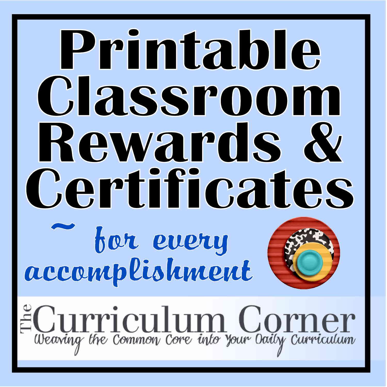 Rewards Certificates The Curriculum Corner 123