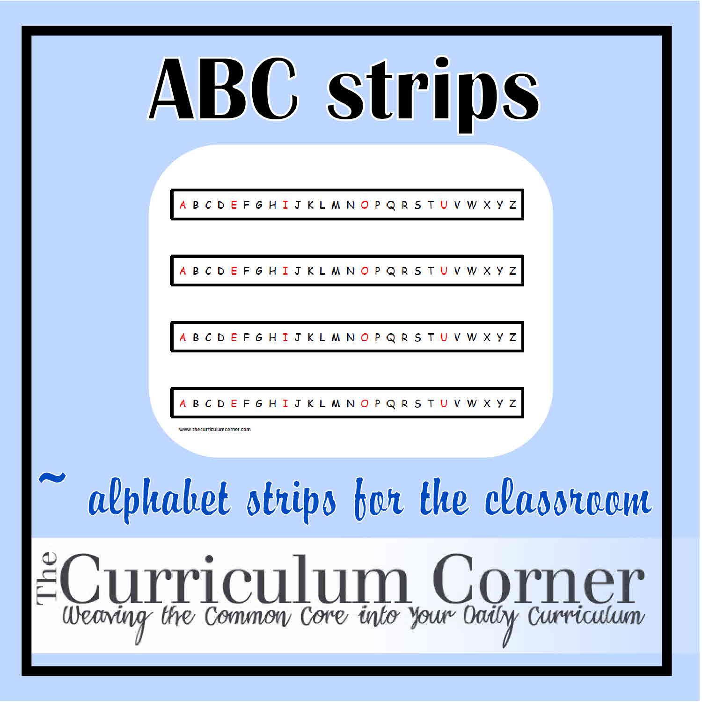 Astounding Alphabet Strip Printable
