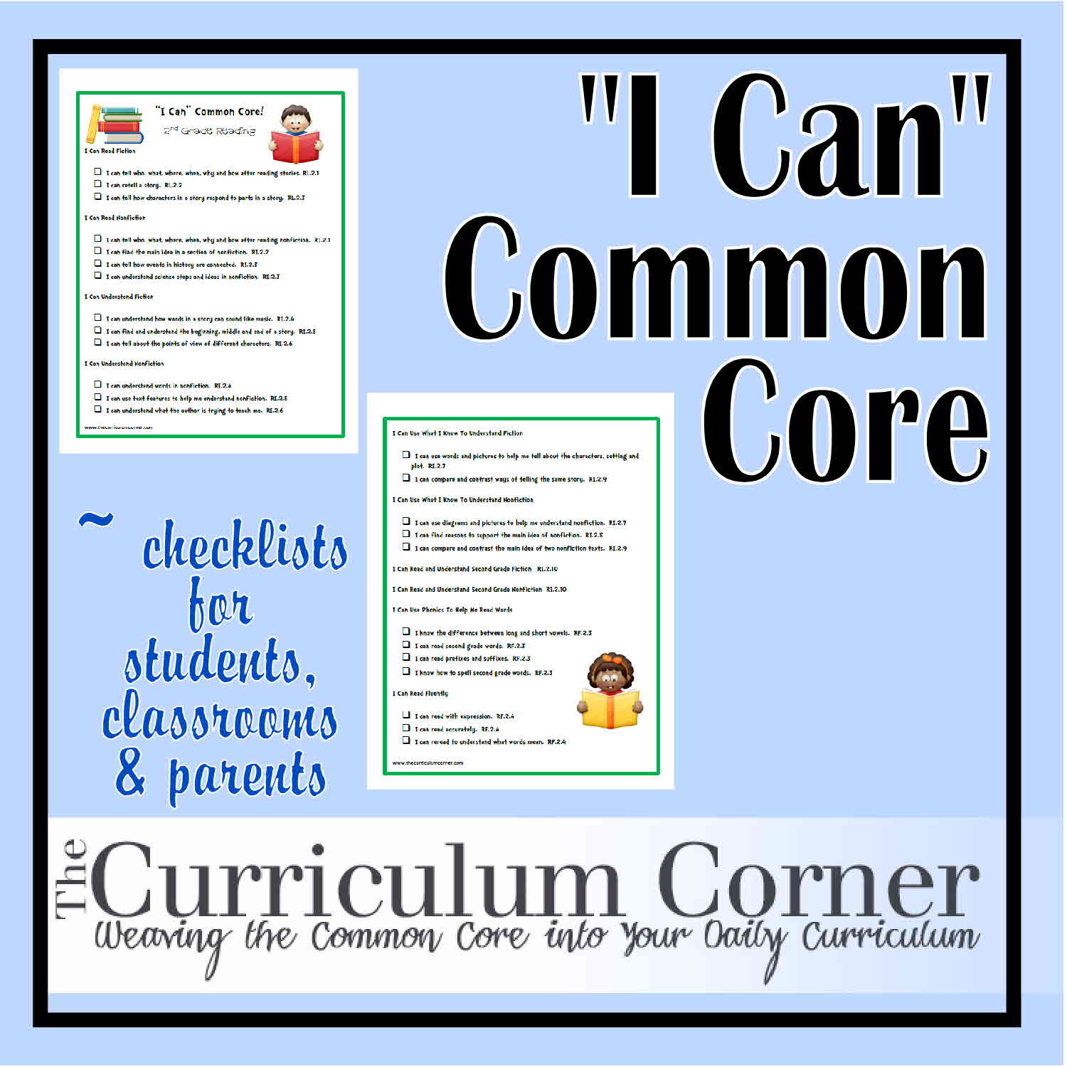 I Can Common Core Second Grade The Curriculum Corner 123