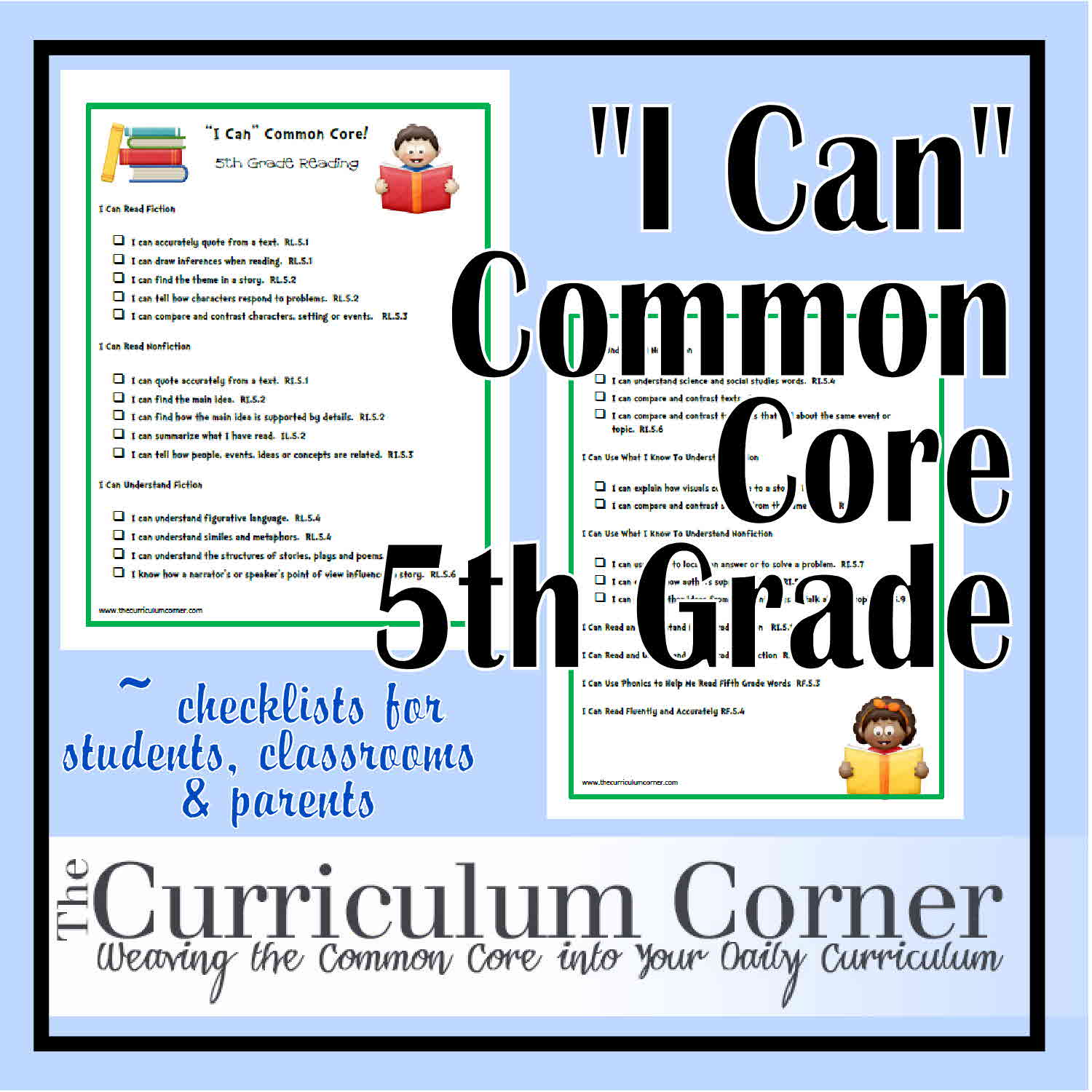 I Can Common Core Fifth Grade