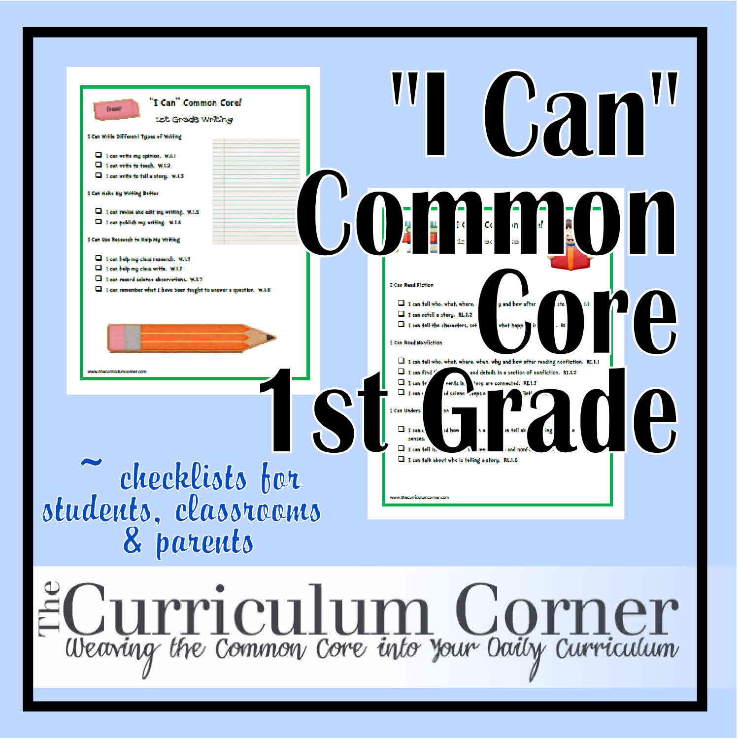I Can Common Core First Grade