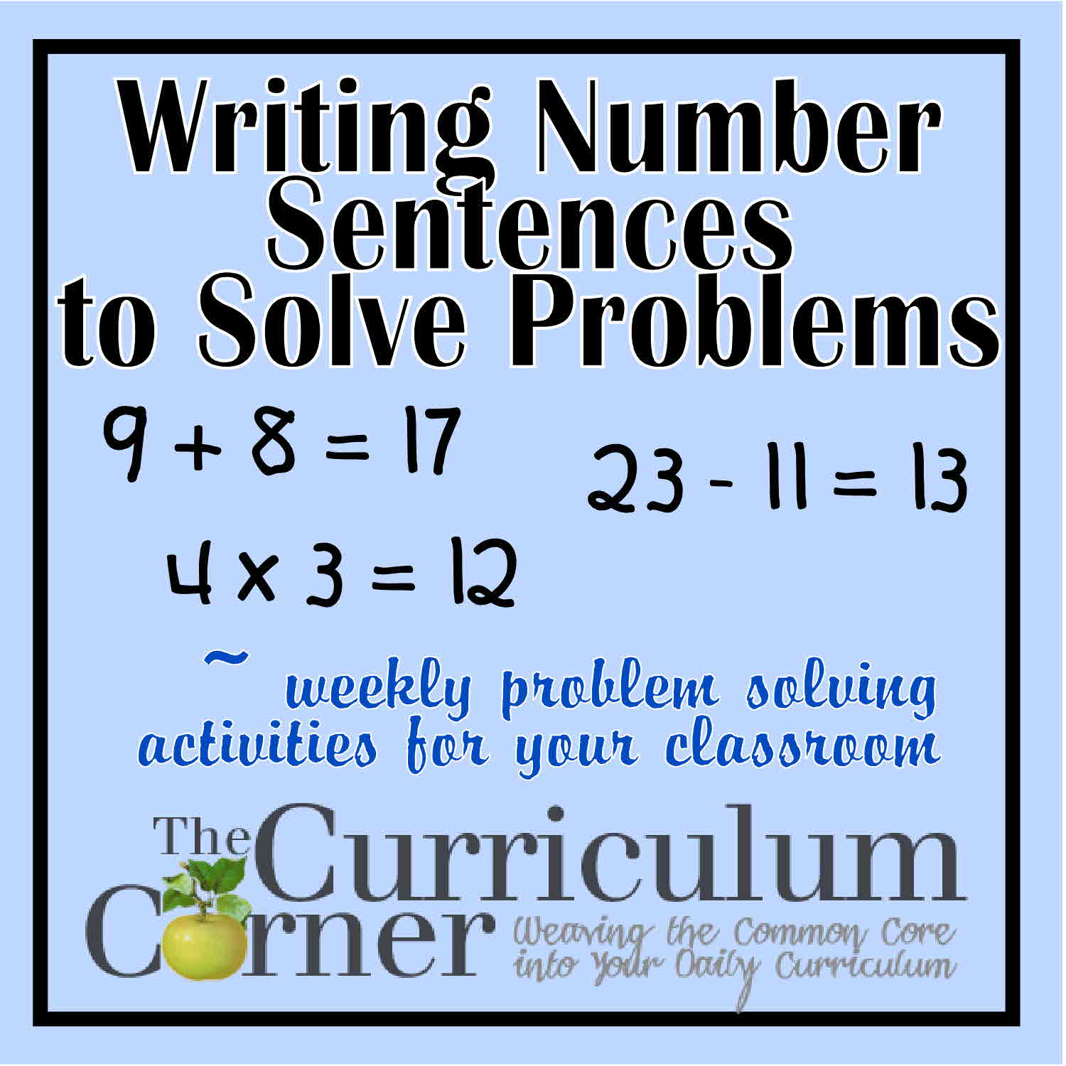Writing Number Sentences To Solve Problems