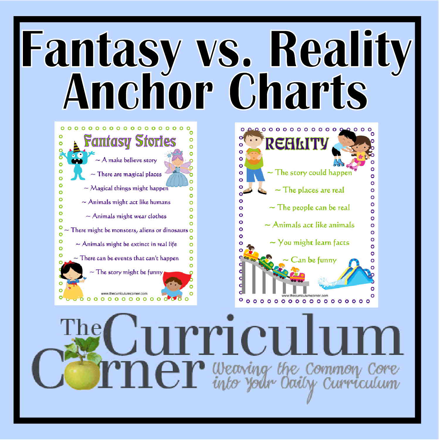 Fantasy Versus Reality Anchor Charts