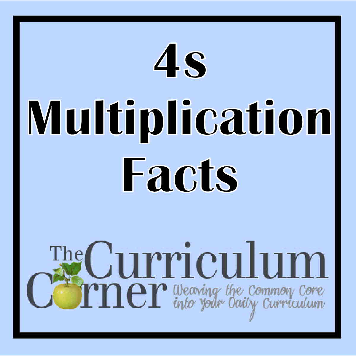 4s Multiplication Facts