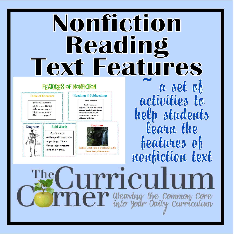 Nonfiction Text Features Lessons