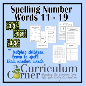 Spelling Number Words 11 - 19