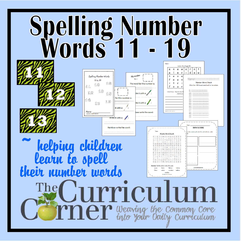 Spelling Number Words 11