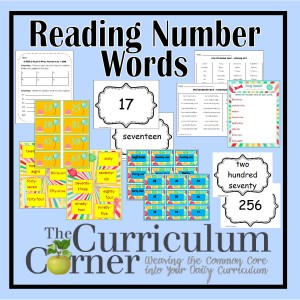 Reading Number Words Activities by The Curriculum Corner