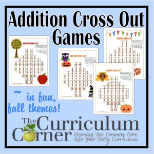 Fall Themed Addition Cross Out Games