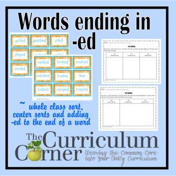 -ed Word Endings