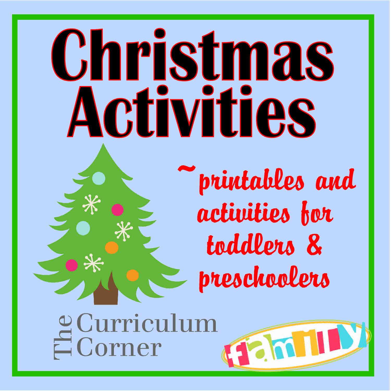 Christmas Activities For Preschoolers Amp Toddlers
