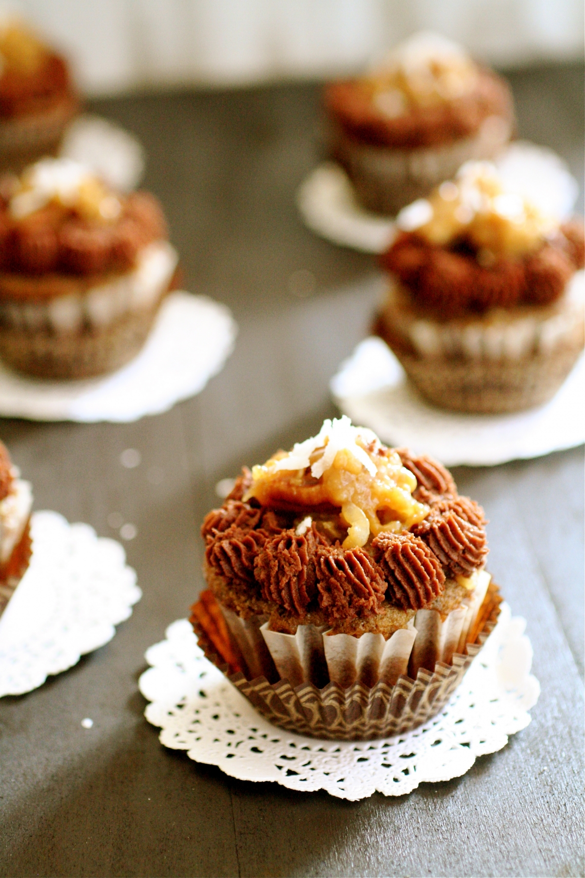 German Chocolate Cupcakes The Curvy Carrot
