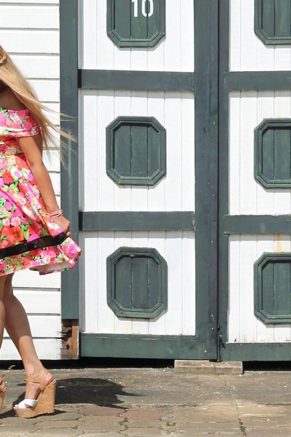 plussize flower dress