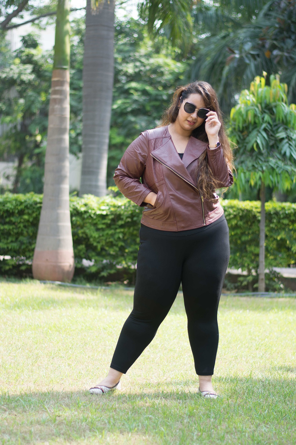 Thecurvyprincess Welcoming Fall In India With Faux Leather Ft Amydus