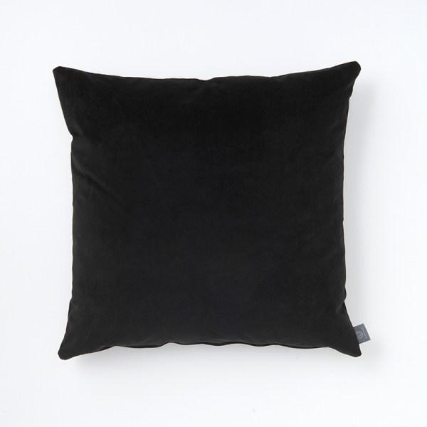 black-both-sides-faux-velvet-cushion