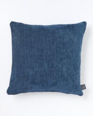 Denim Blue Herringbone Cushion