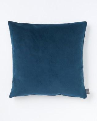 Dark Teal Faux Velvet Cushion