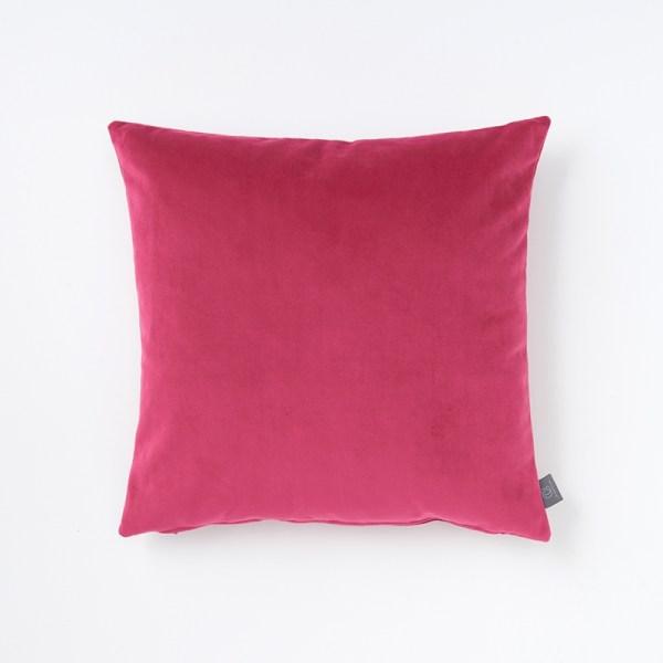hot-pink-faux-velvet-cushion