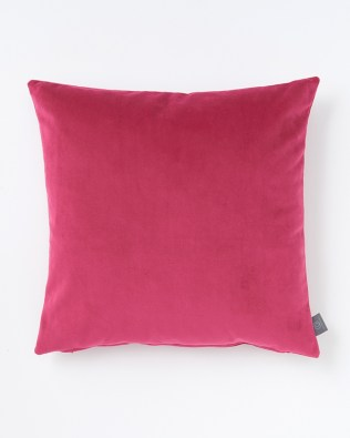 Hot Pink Faux Velvet Cushion
