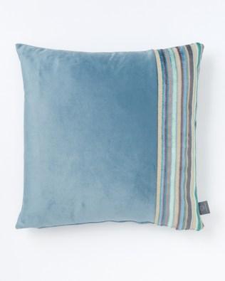 Light Teal Blue & Side Stripe Cushion