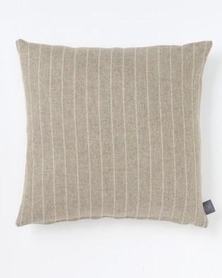 Oatmeal Striped Wool Cushion