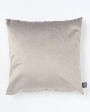 Silver Seal Faux Velvet Cushion