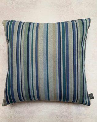 Teal Striped Cushion