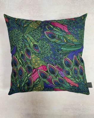 Peacock Feather Outdoor Cushion