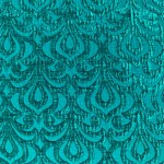 Turquoise Embossed Pattern Cushion