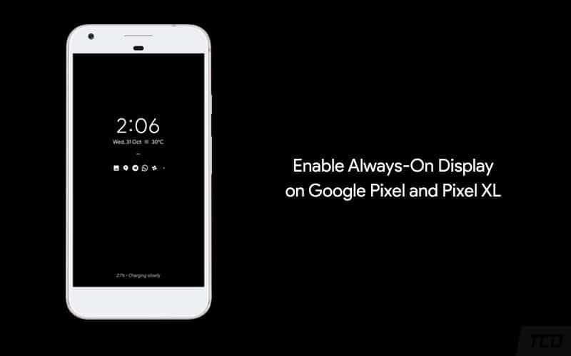 Как включить Always-On Display в Google Pixel и Pixel XL