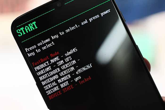 Разблокировать загрузчик на OnePlus 7 и OnePlus 7 Pro - режим быстрой загрузки