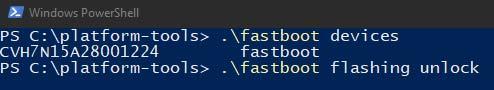 Разблокируйте загрузчик Xiaomi Mi A3 с помощью Fastboot на ПК с Windows