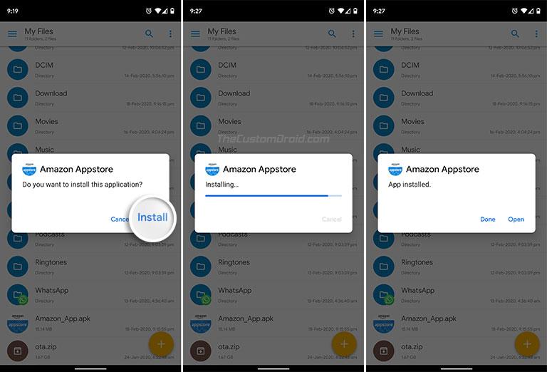 Как установить APK на Android - выберите «Установить», чтобы начать установку.