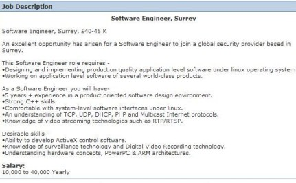 to showcase in your cv when applying for a job as a engineer
