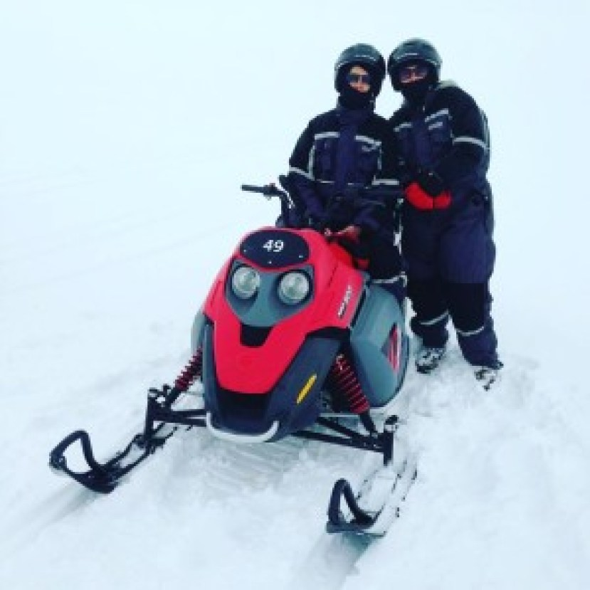 snowmobiling on southern iceland road trip