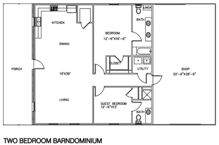 barndominium floor plans 30x40 with 2nd floor