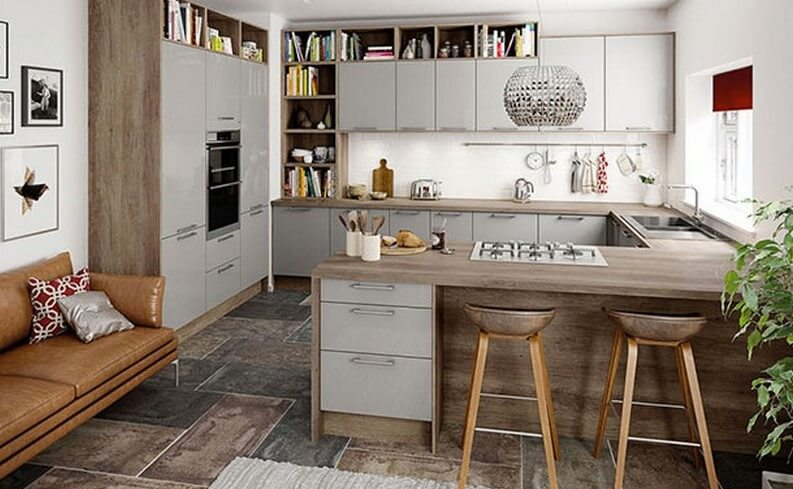 High Quality Small Kitchen Island Against The Wall