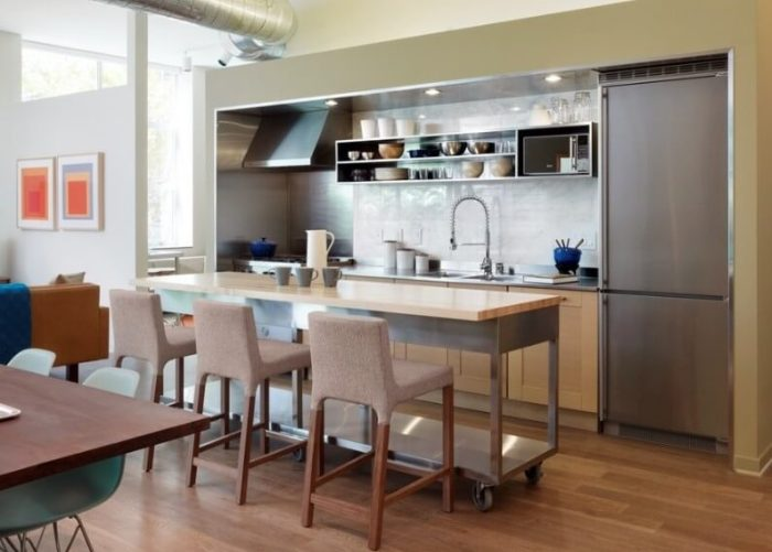 small kitchen island designs with seating