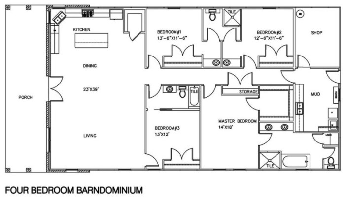 barndominium floor plans and prices