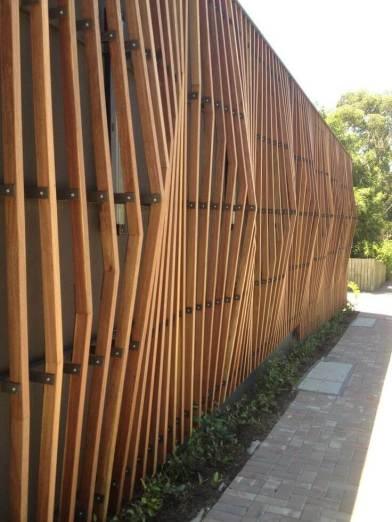Modern Fence Geometric Accents
