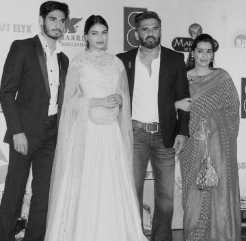 Aahan Shetty Family Photo
