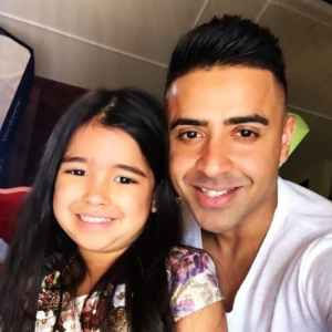 Jay Sean With His Daughter