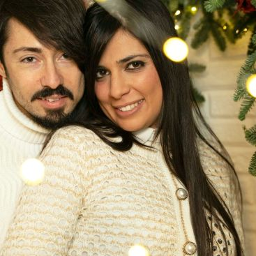 Daniele With His Wife