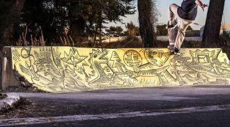 Nils Inne art, draw of skate