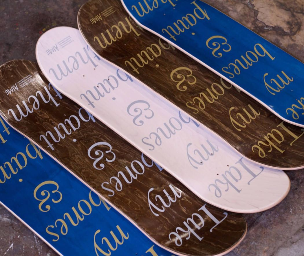 Danie Mellor x AIME x Pass~port skateboard decks