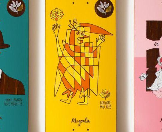 Artist Tribute Series By Magenta Skateboards