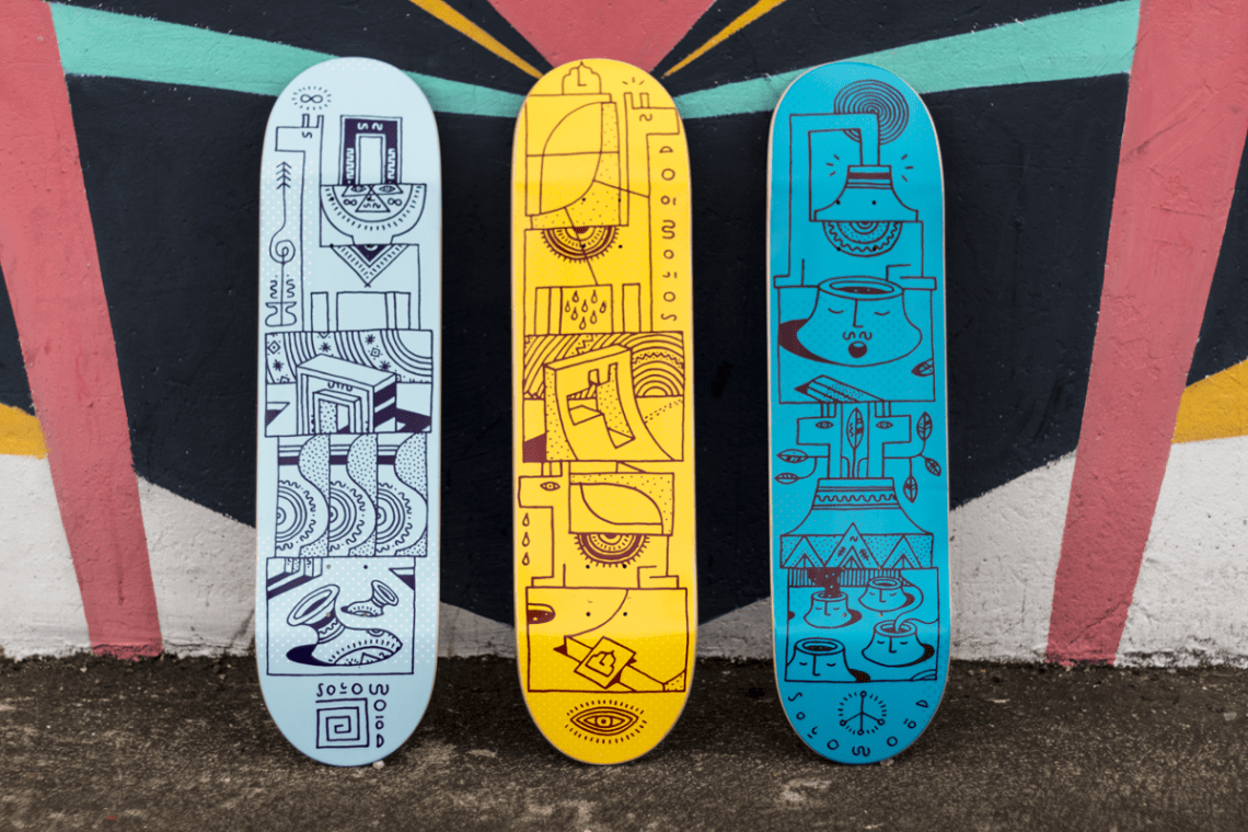 Woodwide Love Series By Elna Solowood Skateboards 3